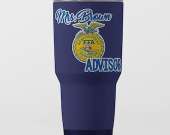 Officially Licensed FFA Emblem Personalized Decals Waterproof FFA Window Decals Yeti Tumbler Stickers