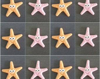 12 x Star Fish Cupcake toppers, Edible Star Fish cake decorations