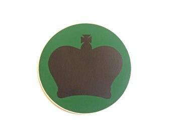 Warrant Officer Crown Stickers/Labels - Black/Green - British Army Military - NEW - E112