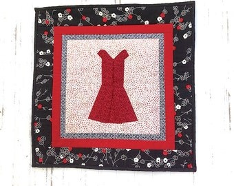 Red Dress Wall Quilt
