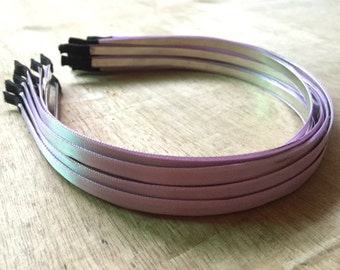 13pieces purple satin metal hair headband covered 5mm wide