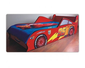 Cars Boy Bed Model no 2 - Lighting McQueen - Boy Bed - Boys Bedroom - Children's Furniture - Wood Beds -Printed Bed - Amazing Bed - Boys