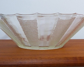 Vintage glass fruit bowl