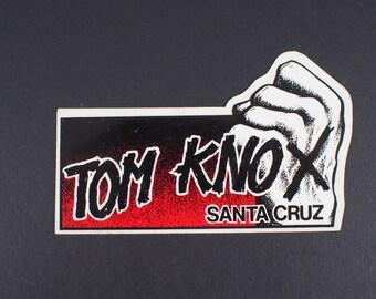 Santa Cruz Tom Knox Hand and Fist X  RED