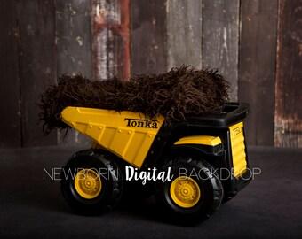 Newborn Digital Backdrop Tonka Truck Boy Background