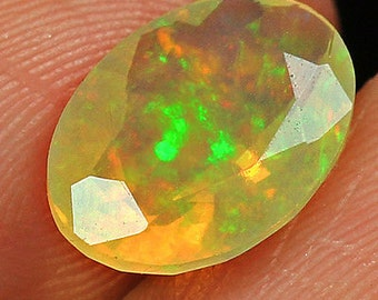 Ethiopian Welo Opal Faceted Cut Play Of Color 1.7CT  QOL7237