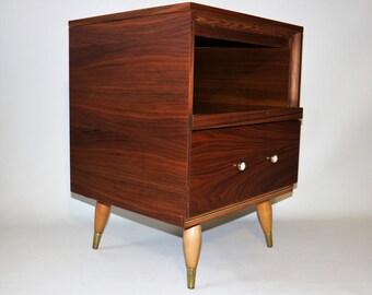 Vintage walnut nightstand