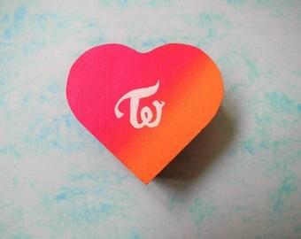 Twice kpop heart jewellery box, official colours