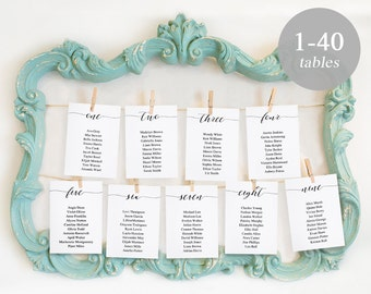 Wedding Seating Chart Printables, Seating Card Templates, Seating Plan, Wedding Seating Cards Editable PDF Instant Download Rustic #SPP007sc