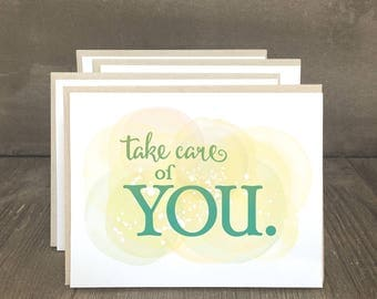 Get well cards, inspirational note cards, Take Care of You