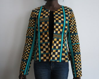 Wax collarless jacket size S