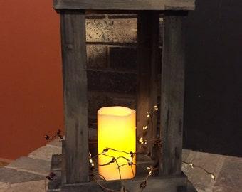 Rustic Lantern, Primitive Lantern, Rustic Candle Holder, Primitive Candle Holder, Wood Lantern, Candle Holder, Lantern