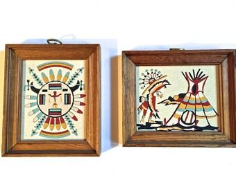Vintage - Native Chiricahua - Sand Art