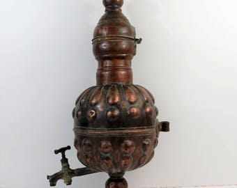 Antique copper Tuscany Italy 1700 spout.