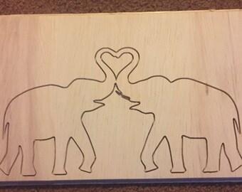 Elephant Love Plaque