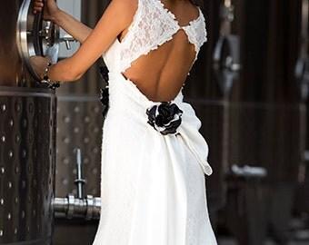 Wedding Dress/Lace Mermaid Keyhole Back Wedding Dress/Lace Mermaid Bridal Dress