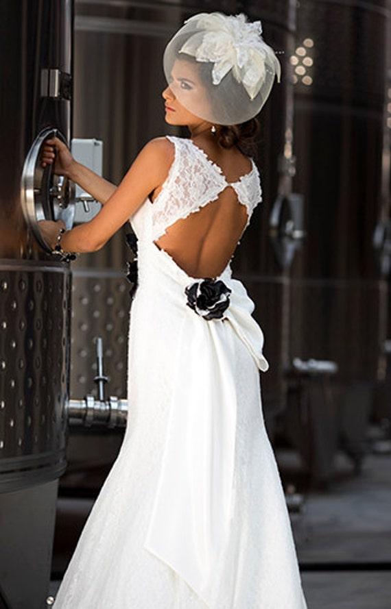 Mariage robe dentelle mermaid de trou de serrure arri re robe for Robe de mariage en trou de serrure lazaro