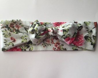 Floral headwrap/toddler headwrap/spring headwrap/Soft Headwrap for Toddlers and Newborns
