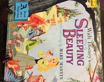 1958 Walt Disney's SLEEPING BEAUTY Story and Songs Disneyland Records ST 3911 w/ Book