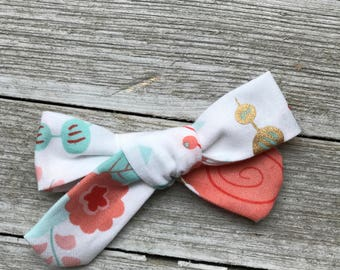 Floral school girl bow