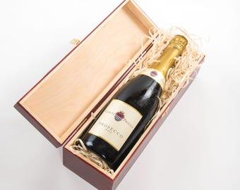 Wine gift box. Wooden Wine Box. Single bottle. Single wine box. Presentation box. Wine box with metal clasp. Champagne Gift box. Gift Box