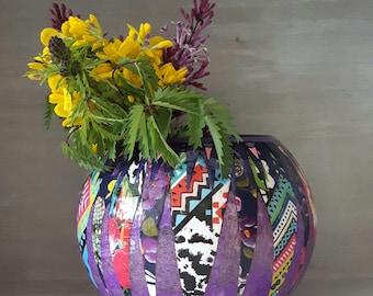 Decorative vases, bubble vases, unique vases, quirky vases, unusual vases, hand decorated vases, funky vases, decorated vases