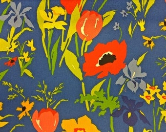 Vintage BloomCraft Spring Cotton Designer Fabric by the yard