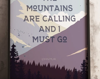 mountains are calling,  Illustrative design