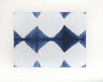 Indigo Marble Placemats Set, Shibori Placemat Set, Handmade Cotton Placemats Set, Design Placemats Set, Hand dyed.