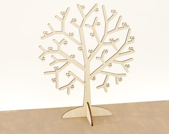 Wooden Jewellery Display/ Jewelry Tree / Wood Jewelry Storage / Jewelry Stand / Jewelry Storage / Wood Earning Rings holder MG000655