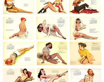 1:25 G scale model toy 1953 pin up calendar