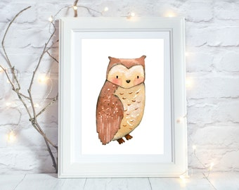 Owl Nursery Decor, Owl Printable, Rustic Nursery Decor, Owl Print, Woodland Nursery Wall Art, Woodland Nursery Decor, Instant Download