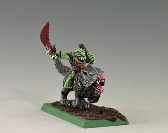 Warhammer Fantasy Goblin Wolf Rider Champion by Games Workshop