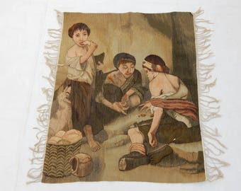 Vintag French Madieval Tapestry (288)