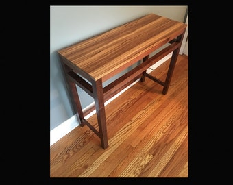 Zebrawood and Black Walnut Console Table (Sofa Table)