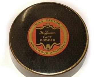 Max FACTOR · Face powder · Vintage powder box · HOLLYWOOD & LONDON