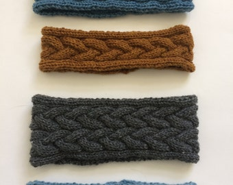 Hand knitted Headbands / Ear Warmers / Women / Girls Width and Color Variations