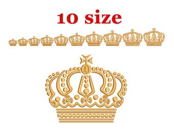 Royal Crown Embroidery Design. Machine Embroidery Design. Tiara embroidery. Princess Crown Embroidery. Machine Embroidery Design. Mini Crown