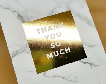 Thank You So Much Gold Card _ Thank You Card