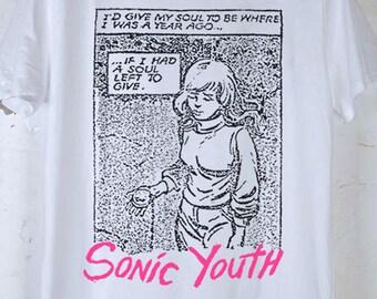 SONIC YOUTH - Evol Era 1986 Vintage Reprint, White T-Shirt