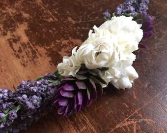LITTLE ARIEL- Wedding Dog Collar, Dog Flower Crown, Floral Dog Collar, Spring Wedding, Boho Wedding, Bohemian Wedding, Dog Flower Girl, Pets