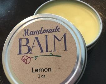 Lemon Homemade Hand & Lip Balm