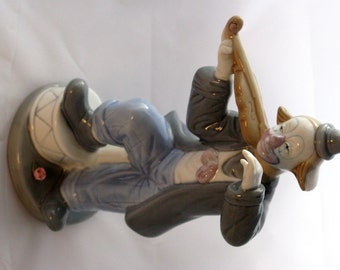 Paul Sebastian Clown With Violin Porcelain Figurine 1992