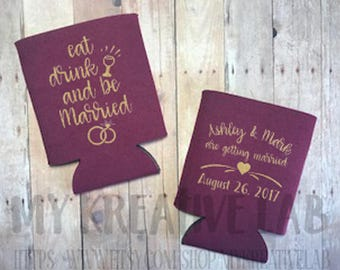 Eat Drink and be Married - Wedding Can Cooler
