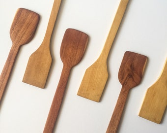 Set of 4 Wooden Spreader, Kitchen Utensil, Small Serving Spatula - Medium
