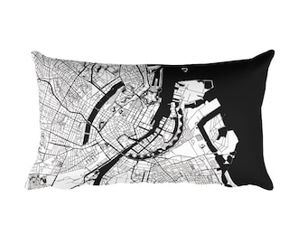 Copenhagen Pillow, Copenhagen Decor, Copenhagen Throw Pillow, Copenhagen Map, Copenhagen Art, Copenhagen Denmark, Map of Copenhagen, Cushion