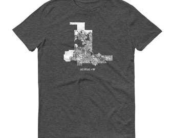 Las Vegas Shirt, Las Vegas NV, Las Vegas TShirt, Las Vegas Gift, Las Vegas Tee, Las Vegas Map, Nevada Shirt, Nevada Map, Las Vegas Art