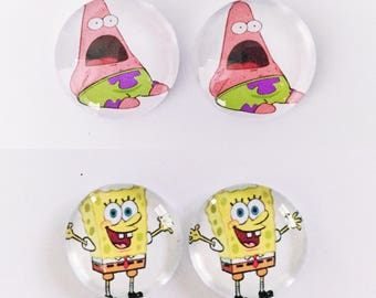 The 'SpongeBob SquarePants' Glass Earring Studs