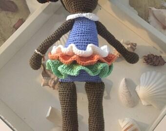 Toy Rag doll crochet hand made barbie friend