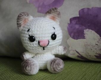 Cat Amigurumi, Crochet Cat, Cat Plushie, Cat Plush, Kawaii Cat, Mini Cat Round Cat, Little Animal Plush, Little Cat, stuffed animal.